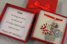 LUCKY SIXPENCE CHARM, 80th BIRTHDAY GIFT, PERSONALISED