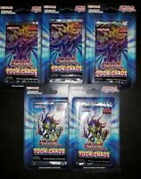 Toon Chaos Blister Pack Sealed 1st Edition Booster (lot 5)