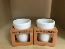 Set of Two Yankee Candle Rustic Modern Terracotta Votive Holders