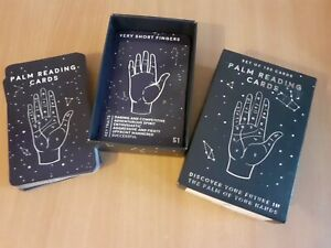 Set of 100 Cards Palm Reading Cards - Gift Republic