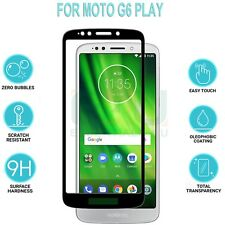 Black Flat Full Cover Tempered Glass Screen Protector For Motorola Moto G6 Play