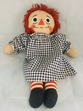 Raggedy Ann Vtg Doll I Love You Heart 15in