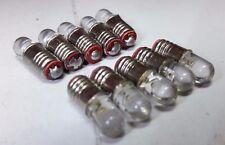 10x 12V E5 Las Lilliput LED Miniatura Rojo Recambio Tornillo G Escala Bombillas