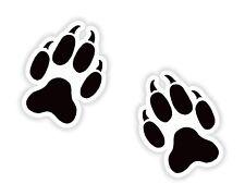 2x Fox Paw Print Stickers indicates family affairs for Bumper Helmet Door Car