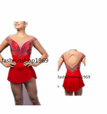 Ice Figure Skating Dress  Figure skaitng Dress red For Competition xx80