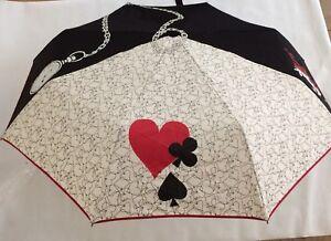 BNWT Disney Parks Vera Bradley Alice in Wonderland Painting in Roses Umbrella