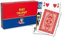 Modiano Ramino 63 Spielkarten BIKE TROPHY SET Plastik, Romme,Bridge,Kanasta NEU!