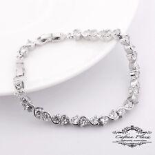Tennis Armband Bracelet 18K Weiss gold Plt mit Swarovski Kristallen AAA+ NEU fa7b24204d