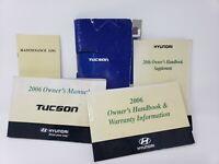 2006 Hyundai Tucson Owner's Manual Original OEM Paperwork Warranty User Info