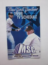 1999 New York Yankees TV Schedule Derek Jeter MSG NY Mets Sked Mike Piazza