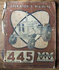 Minneapolis Moline 445 Powerlined Tractors Operator's Manual