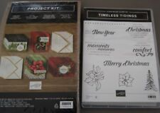 Stampin' Up!    TIMELESS TIDINGS  PROJECT KIT   W/Cling Mount Stamp Set  NIP