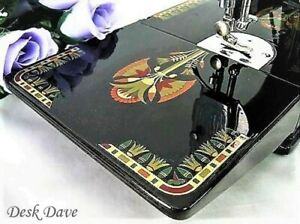 Rare Singer Featherweight 221 Sewing Machine with 1920's 'Lotus' Style Displays.