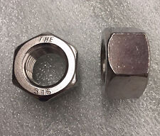 "1""-8 Coarse Thread Finished Hex Nut Stainless Steel 316 (Pk 10)"