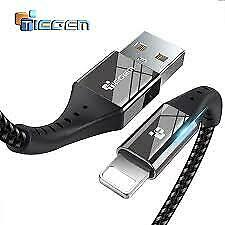 Original Cable Cargador Usb tiegem para iPhone 6, 6s, 7, 8, 9,, XS-Negro 2M X