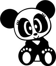 Panda Women Voiture Autocollant Sticker Décalque JDM OEM Shocker 9,0 x 11 cm v. Couleurs