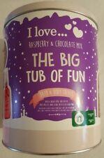 I Love Raspberry & Chocolate Mix Gift Set - Bath And Body tin - RRP £15 - BNWT
