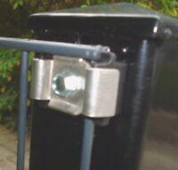 Zaun Pfosten Klemmlasche Bohrschraube Doppelstabmattenzaun Halterung 20 x ant.E