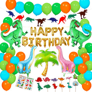 Dinosaur Party Supplies - 90 pcs for Birthday Decorations Dino Party Decorations