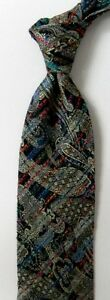 Black Paisley UNGARO Silk Tie