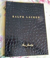Ralph Lauren Fine Jewelry Collection 2011 Catalog faux leather gilt edge RARE