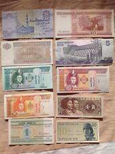 10 Pcs Different Banknotes World Paper Money Set/Lot UNC From Bundle