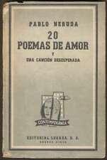 Pablo Neruda Book 20 Poemas Amor Cancion Desesperada 1963