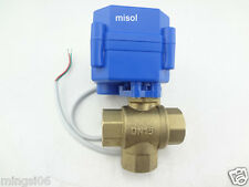 3 way motorized ball valve DN15(reduce port)electric ball valve, motorized valve