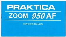 PRAKTICA ZOOM 950AF CAMERA: INSTRUCTION MANUAL: ORIGINAL: PENTACON PUBLICATION