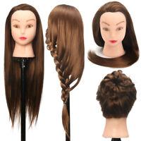 61cm Pratique Entraînement Tête Long Coiffure Cheveux Salon Poupée Mannequin +A