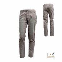 Pantalone Slim con Toppe in Camoscio Neonato Grigio Jeckerson 6RPU84