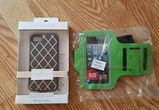 Iphone 5 5S armband and carbon alloy case mate dual layer protection lot of 2