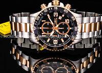 Invicta Men SPECIALTY CHRONOGRAPH Black Dial Rose Tone & Silver Bracelet Watch