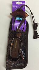 LOT OF 3 Reading Glasses Foster Grant Beatrice Brown Combo Pack +2.00 NEW