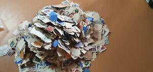 Large Bag of Australian Pre Decimal Stamps Bulk Lot. ( never been sorted)
