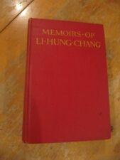 SCARCE MEMOIRS OF LI HUNG CHANG 1923 2ND EDITION W.F. MANNIX CHINESE HISTORY!
