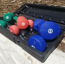 6 Neoprene Dumbbell Set 2lb 3lb 5lb **With *OR* Without Case** Hand Weight Impex