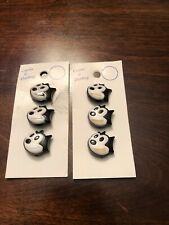 Original Curtis And Darling Felix The Cat Plastic Sewing Buttons On Card