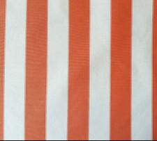 "OUTDOOR WATERPROOF FABRIC Upholstery Canvas 600 Denier 60"" ORANGE CREAM Striped"