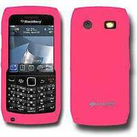 AMZER Baby Pink Silicone Skin Jelly Back Case Cover for Blackberry Pearl 9105