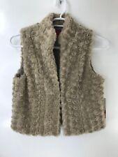 Elle Juniors Girls Faux Fur Vest Size Small # S2
