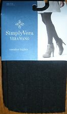 Simply Vera Vera Wang Cable Sweater Tights Size 1/2 Black-NIP