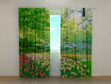Photo Curtain Printed with Spring Netherland Park image Wellmira Made to Measure
