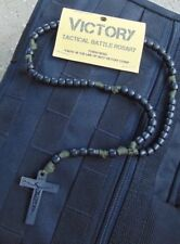 ParacordRosary - 550 Tactical Battle Version - Tough Bead (Military OD Green)