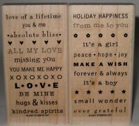 """Stampin' Up! Rubber Stamp Partial Set So Many Sayings Love Baby 2"""" x 3.75"""""""