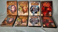 World of warcraft WOW bundle original game + 3 expansion sets