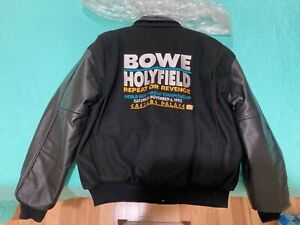 RARE Boxing Jacket.  Bowe vs Holyfield.   Repeat or Revenge.    Nov. 6, 1993.
