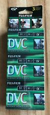 3 pack new Fujifilm dvc mini dv digital videocassette camcorder tapes