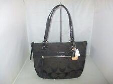 Coach Handbag 23473 Poppy Metallic Signature C Small Tote Bag Satchel $178 Black