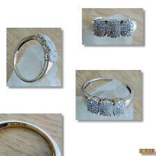 Damenring Ring mit viele Diamanten Diamantring - 375 / 9k Gold